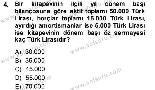 Yerel Yönetimler Bölümü 3. Yarıyıl Türk Vergi Sistemi Dersi 2014 Yılı Güz Dönemi Ara Sınavı 4. Soru