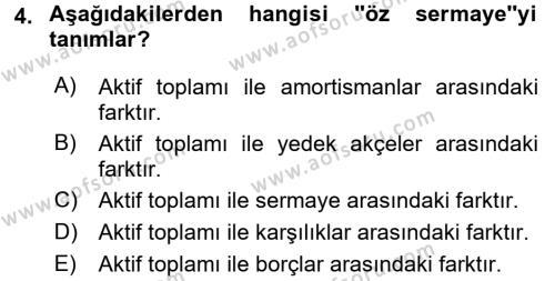 Türk Vergi Sistemi Dersi 2016 - 2017 Yılı (Vize) Ara Sınavı 4. Soru