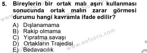 Kamu Yönetimi Bölümü 3. Yarıyıl Kamu Maliyesi Dersi 2013 Yılı Güz Dönemi Ara Sınavı 5. Soru
