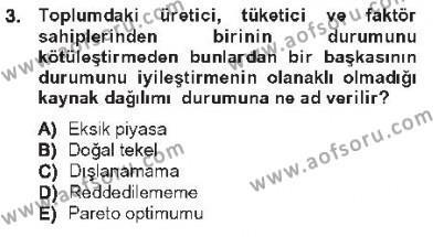 Yerel Yönetimler Bölümü 3. Yarıyıl Kamu Maliyesi Dersi 2013 Yılı Güz Dönemi Tek Ders Sınavı 3. Soru