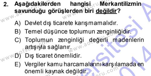 Kamu Maliyesi Dersi 2013 - 2014 Yılı Dönem Sonu Sınavı 2. Soru
