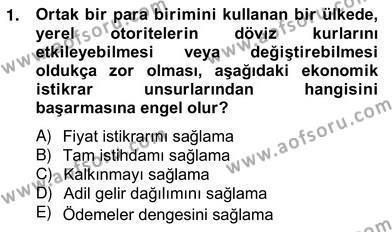 Mahalli İdareler Maliyesi Dersi 2012 - 2013 Yılı Ara Sınavı 1. Soru