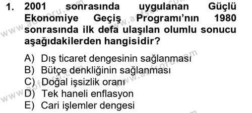 Kamu Yönetimi Bölümü 8. Yarıyıl Maliye Politikası II Dersi 2013 Yılı Bahar Dönemi Dönem Sonu Sınavı 1. Soru