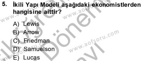 Maliye Bölümü 8. Yarıyıl Maliye Politikası II Dersi 2014 Yılı Bahar Dönemi Dönem Sonu Sınavı 5. Soru