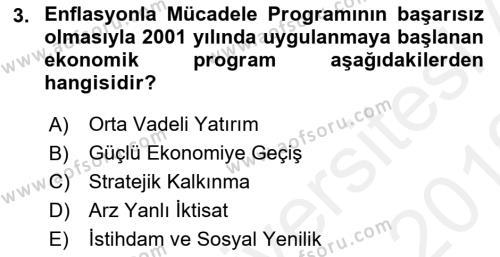 Maliye Politikası 2 Dersi 2018 - 2019 Yılı (Vize) Ara Sınav Soruları 3. Soru
