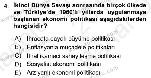 Maliye Politikası 2 Dersi 2018 - 2019 Yılı (Vize) Ara Sınav Soruları 4. Soru
