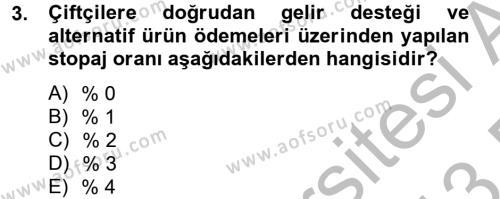 Vergi Uygulamaları Dersi 2012 - 2013 Yılı Dönem Sonu Sınavı 3. Soru