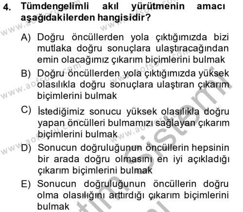 Sembolik Mantık Dersi 2013 - 2014 Yılı (Vize) Ara Sınav Soruları 4. Soru