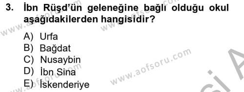 Mantığın Gelişimi Dersi 2012 - 2013 Yılı (Final) Dönem Sonu Sınav Soruları 3. Soru