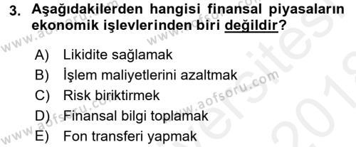 Menkul Kıymet Yatırımları Dersi 2017 - 2018 Yılı (Final) Dönem Sonu Sınavı 3. Soru