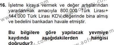 İnşaat ve Gayrimenkul Muhasebesi Dersi 2012 - 2013 Yılı Dönem Sonu Sınavı 1. Soru