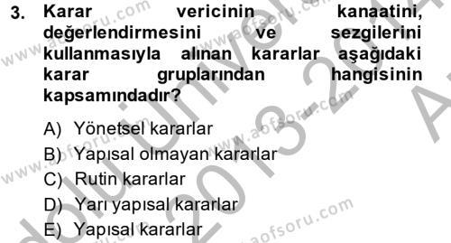 Muhasebede Bilgi Yönetimi Dersi 2013 - 2014 Yılı (Vize) Ara Sınav Soruları 3. Soru