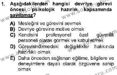 Olaylara Müdahale Esasları Dersi 2012 - 2013 Yılı Dönem Sonu Sınavı 1. Soru