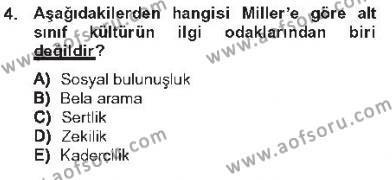 Kriminoloji Dersi 2012 - 2013 Yılı Tek Ders Sınavı 4. Soru