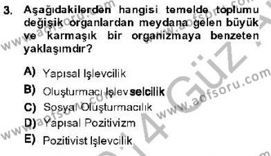 Kriminoloji Dersi 2013 - 2014 Yılı Ara Sınavı 3. Soru