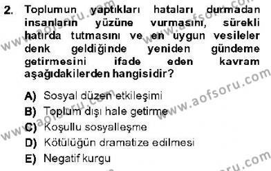Kriminoloji Dersi 2013 - 2014 Yılı Dönem Sonu Sınavı 2. Soru