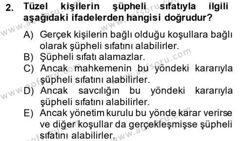 Temel Ceza Muhakemesi Hukuku Bilgisi Dersi 2013 - 2014 Yılı Dönem Sonu Sınavı 2. Soru