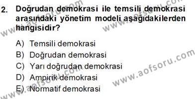 Okulöncesinde Demokrasi Eğitimi Ve Çocuk Hakları Dersi 2013 - 2014 Yılı (Final) Dönem Sonu Sınav Soruları 2. Soru