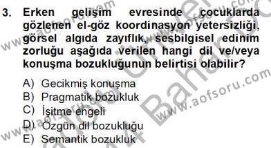 Erken Çocukluk Döneminde Gelişim 2 Dersi 2013 - 2014 Yılı (Final) Dönem Sonu Sınav Soruları 3. Soru