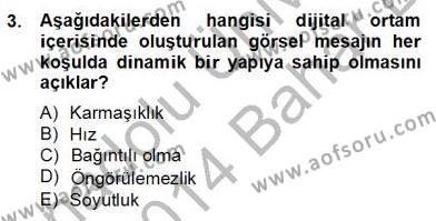 Okulöncesinde Materyal Geliştirme Dersi 2013 - 2014 Yılı (Final) Dönem Sonu Sınav Soruları 3. Soru