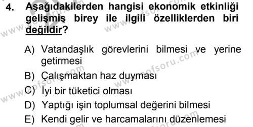 Eğitim Bilimine Giriş Dersi 2012 - 2013 Yılı Ara Sınavı 4. Soru
