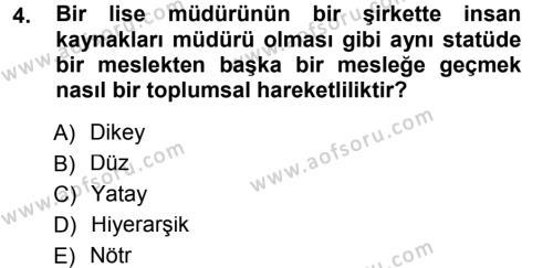 Eğitim Bilimine Giriş Dersi 2013 - 2014 Yılı Ara Sınavı 4. Soru