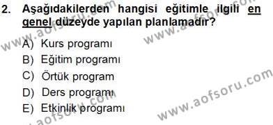 İngilizce Öğretmenliği Bölümü 3. Yarıyıl Öğretim İlke Ve Yöntemleri Dersi 2013 Yılı Güz Dönemi Ara Sınavı 2. Soru