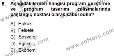 İngilizce Öğretmenliği Bölümü 3. Yarıyıl Öğretim İlke Ve Yöntemleri Dersi 2013 Yılı Güz Dönemi Ara Sınavı 5. Soru