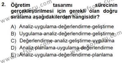 Öğretim İlke Ve Yöntemleri Dersi 2013 - 2014 Yılı (Final) Dönem Sonu Sınav Soruları 2. Soru