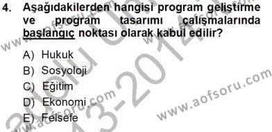 Öğretim İlke Ve Yöntemleri Dersi 2013 - 2014 Yılı Tek Ders Sınavı 4. Soru