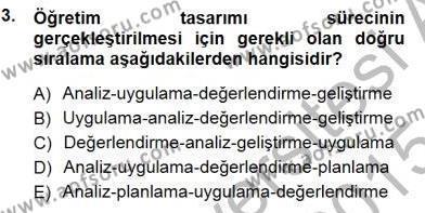 Öğretim İlke Ve Yöntemleri Dersi 2014 - 2015 Yılı (Vize) Ara Sınav Soruları 3. Soru