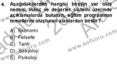 Öğretim İlke Ve Yöntemleri Dersi 2014 - 2015 Yılı (Vize) Ara Sınav Soruları 4. Soru