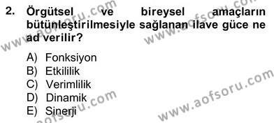 Türk Eğitim Sistemi Ve Okul Yönetimi Dersi 2012 - 2013 Yılı Ara Sınavı 2. Soru