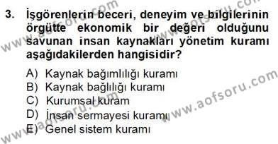 Türk Eğitim Sistemi Ve Okul Yönetimi Dersi 2012 - 2013 Yılı Dönem Sonu Sınavı 3. Soru