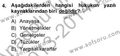 İngilizce Öğretmenliği Bölümü 8. Yarıyıl Türk Eğitim Sistemi Ve Okul Yönetimi Dersi 2014 Yılı Bahar Dönemi Ara Sınavı 4. Soru