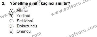 Rehberlik Dersi 2012 - 2013 Yılı Dönem Sonu Sınavı 2. Soru