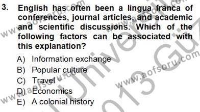Özel Öğretim Yöntemleri Dersi 2012 - 2013 Yılı Ara Sınavı 3. Soru