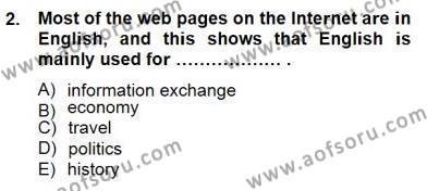 Özel Öğretim Yöntemleri Dersi 2013 - 2014 Yılı Dönem Sonu Sınavı 2. Soru
