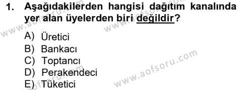 Perakende Satış ve Mağaza Yöneticiliği Bölümü 2. Yarıyıl Perakendeciliğe Giriş Dersi 2013 Yılı Bahar Dönemi Ara Sınavı 1. Soru