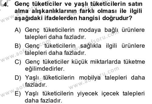 Perakendeciliğe Giriş Dersi 2012 - 2013 Yılı (Final) Dönem Sonu Sınav Soruları 4. Soru