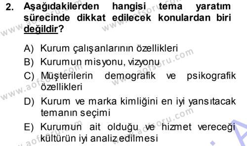 Mağaza Atmosferi Dersi 2013 - 2014 Yılı (Final) Dönem Sonu Sınav Soruları 2. Soru