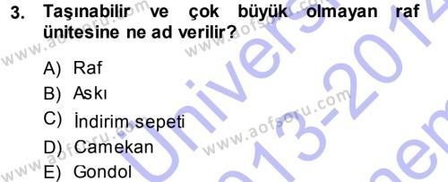 Mağaza Atmosferi Dersi 2013 - 2014 Yılı (Final) Dönem Sonu Sınav Soruları 3. Soru