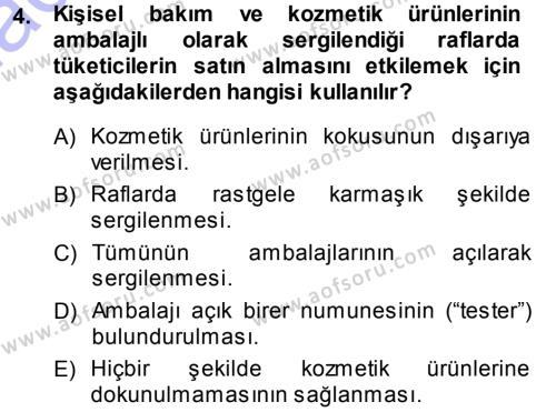 Mağaza Atmosferi Dersi 2013 - 2014 Yılı (Final) Dönem Sonu Sınav Soruları 4. Soru