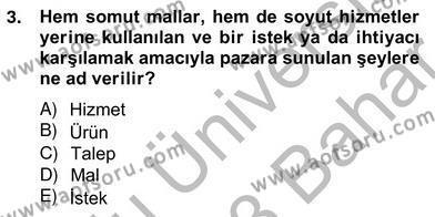 Perakendecilikte Ürün Yönetimi Dersi 2012 - 2013 Yılı (Vize) Ara Sınav Soruları 3. Soru
