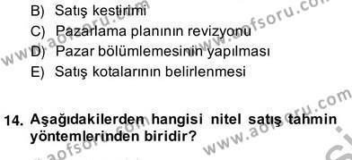 Perakendecilikte Ürün Yönetimi Dersi 2013 - 2014 Yılı (Vize) Ara Sınav Soruları 2. Soru