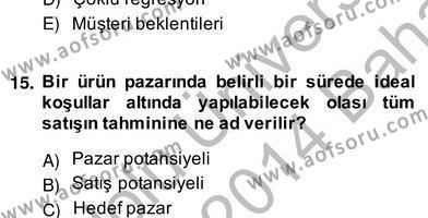 Perakendecilikte Ürün Yönetimi Dersi 2013 - 2014 Yılı (Vize) Ara Sınav Soruları 3. Soru