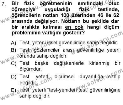 Psikolojiye Giriş Dersi Ara Sınavı Deneme Sınav Soruları 7. Soru