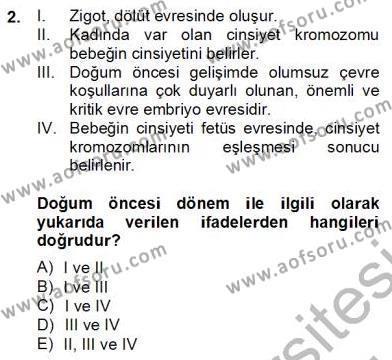 Eğitim Psikolojisi Dersi 2012 - 2013 Yılı Dönem Sonu Sınavı 2. Soru