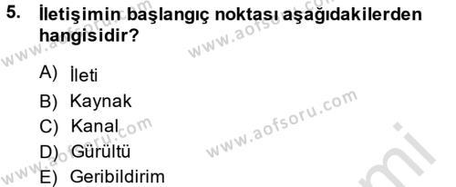 Bankacılık ve Sigortacılık Bölümü 4. Yarıyıl Müşteri İlişkileri Yönetimi Dersi 2014 Yılı Bahar Dönemi Tek Ders Sınavı 5. Soru