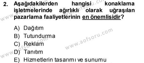Satış Teknikleri Dersi 2013 - 2014 Yılı Ara Sınavı 2. Soru